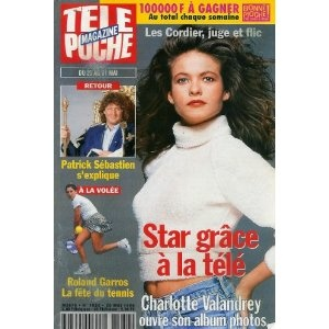 Charlotte Valandrey Les Cordier, juge et flic ouvre son album photos : Star grâce à la télé, dans Télé Poche n°1580 du 20/05/1996  [couverture et article mis en vente par Presse-Mémoire]