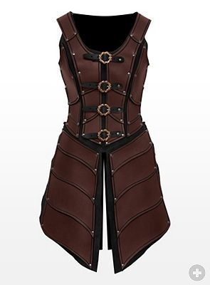 Lady Leather Armor brown - maskworld.com