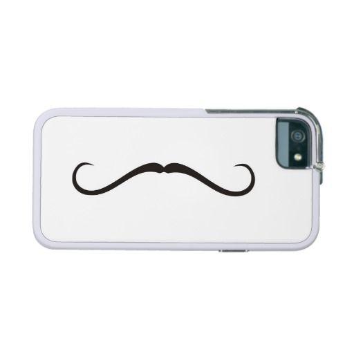 Curly vintage retro gentelman mustaches illustration iPhone 5 / 5S case