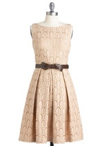 With a sparkly sash, this darling number would be uber-bridal-y!