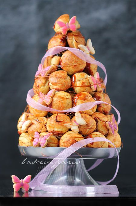 Thinking of making my mum a kind of croquembouche but with scones for her birthday as it's the day after lent and she always gives up cake. With ribbon and butterflies made of fondant icing.
