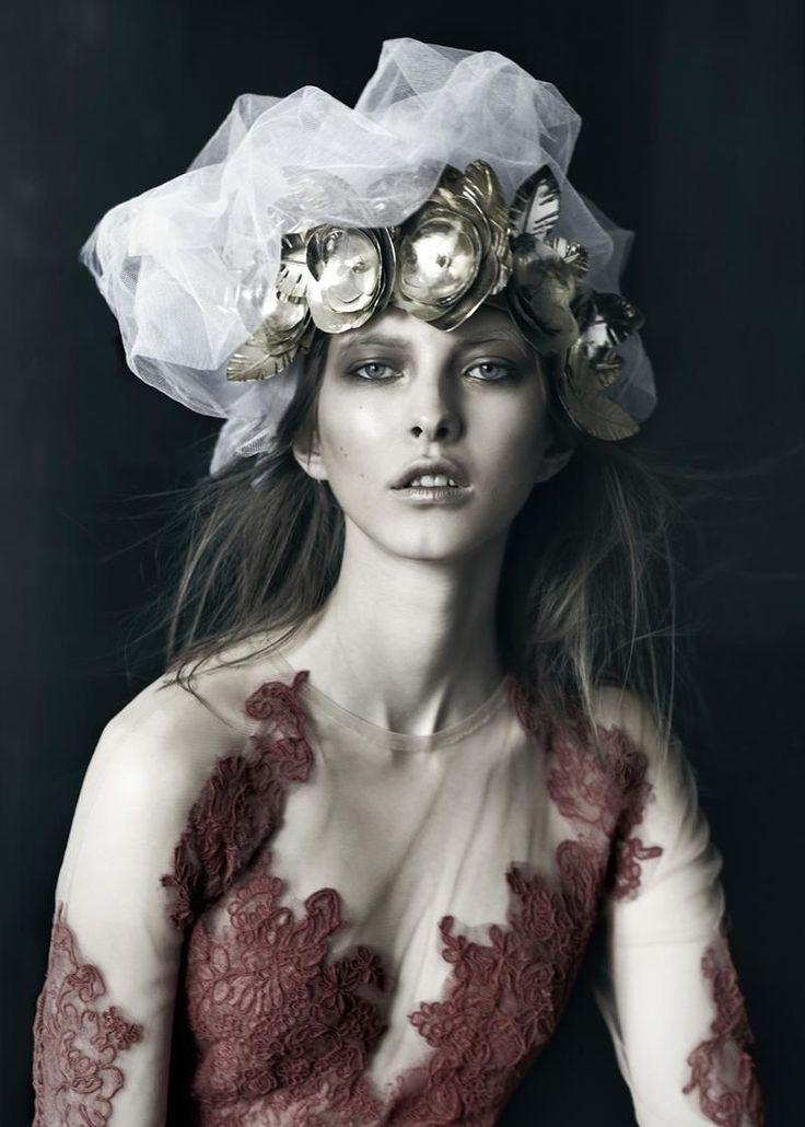 Fantastical Regal Editorials - The Schon Magazine 'Queen Henriett' Photoshoot Stars Henriett Barabas (GALLERY)