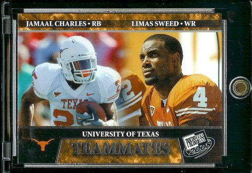 2008 Press Pass NFL Card 94 Jamaal Charles / Limas Sweed Texas - Teammates - Rookie Insert Football Card in... * This is an Amazon Affiliate link. Be sure to check out this awesome product.