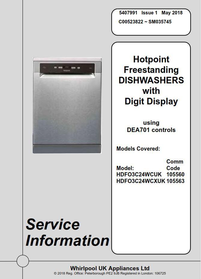Hotpoint Hdfo 3c24 W C X Hdfo 3c24 W C Dishwasher Service Manual Technicians Guide Dishwasher Service Hotpoint Dishwasher