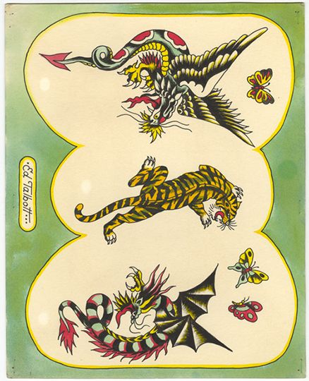 """Work by Don Ed Hardy """"One person's tattoo is nobody else's business."""""""