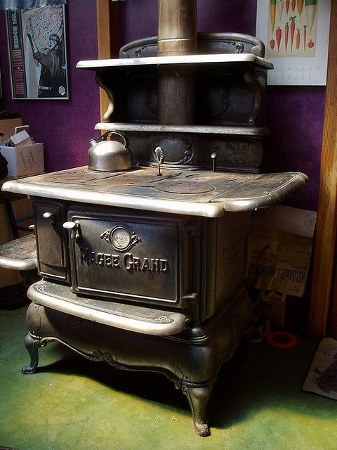Cooking Warmers Vintage Fireplace ~ Best antique stoves brick fireplaces images on