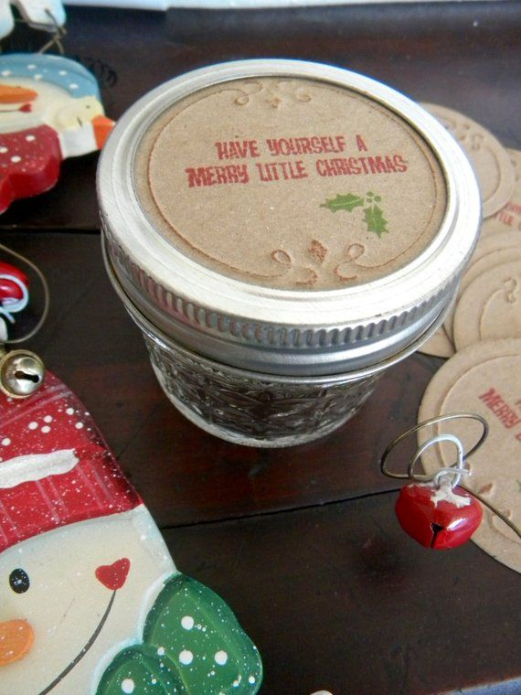 Have Yourself A Merry Christmas Canning Jar Lid Covers Canning Jar Lids Jar Lid Cover Jar Lids