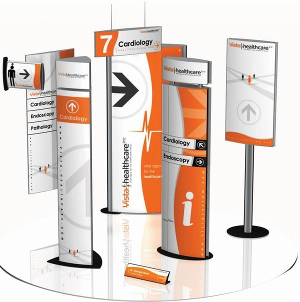 #signage line of products : totems, etc