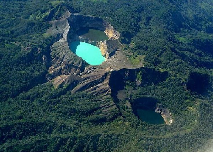 KELIMUTU mountain located in the FLORES island, EAST NUSA TENGGARA. This is an amazing mountain because it has three lakes on it, and as the most wonderful attraction in this mountain is the lakes have three different colors. The lake's color can be changed anytime; usually it is red, blue and white.