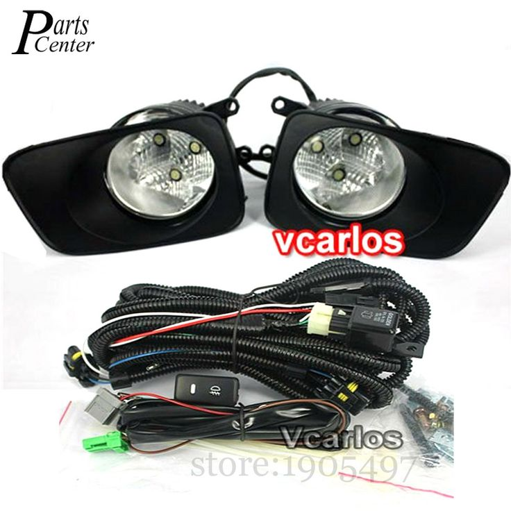 101.19$  Watch now - http://alifd7.worldwells.pw/go.php?t=32605475349 - For Toyota Corolla Fielder Corolla Axio 2007 Corolla 2010 LED Fog Lights Lamp Clear Lens Pair Set With Wiring Kit Fog Light Set 101.19$