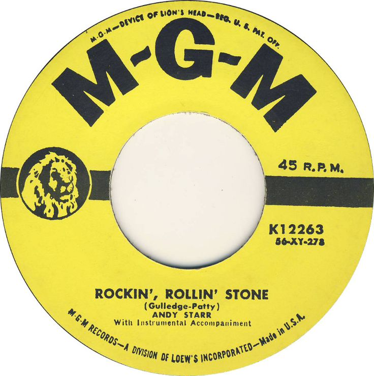Image result for andy starr rockin rollin stone 45 rpm