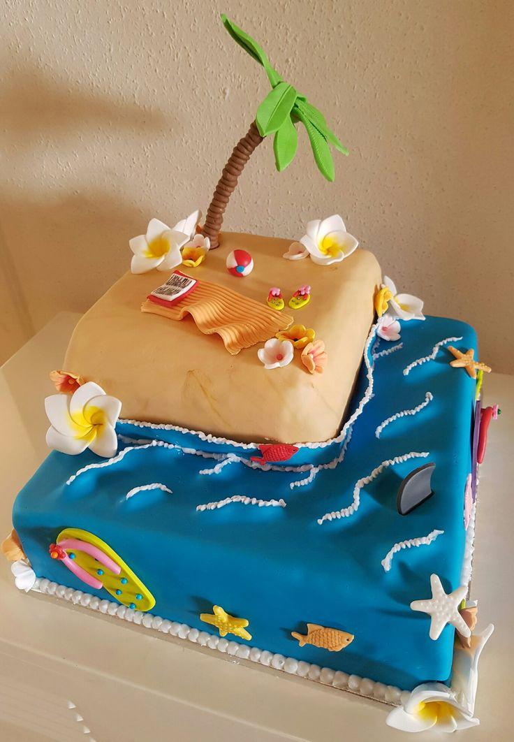 Tropical island cake / Tropisch eiland taart