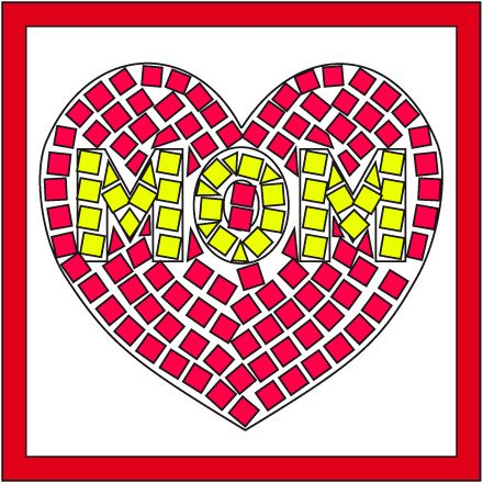 Image result for mosaic tile mothers day