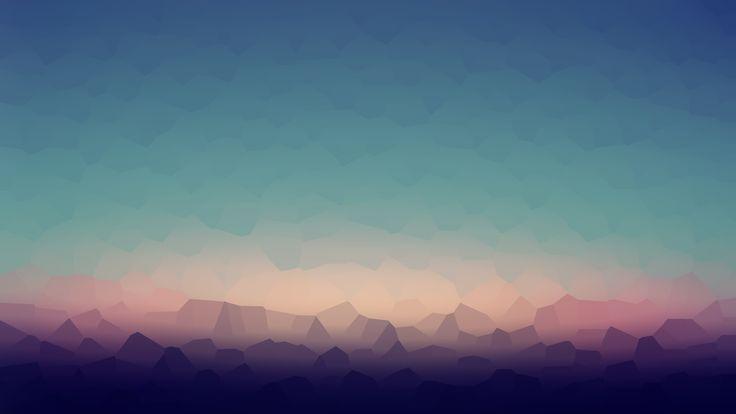 polygonal mountain abstract wallpaper Desktop