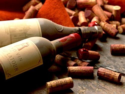 wine bottles and corks