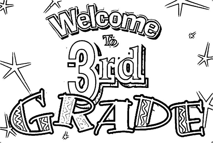 Nice Welcome To 3rd Grade Coloring Page Coloring Pages