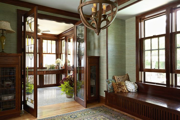 craftsman entryway by Meriwether Inc