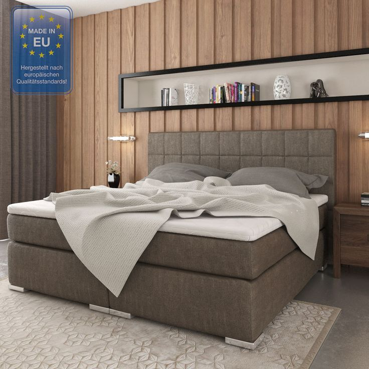 Design Boxspringbett Doppelbett Hotelbett Ehebett Classic 180x200 cm stone in Möbel & Wohnen, Möbel, Betten & Wasserbetten | eBay!