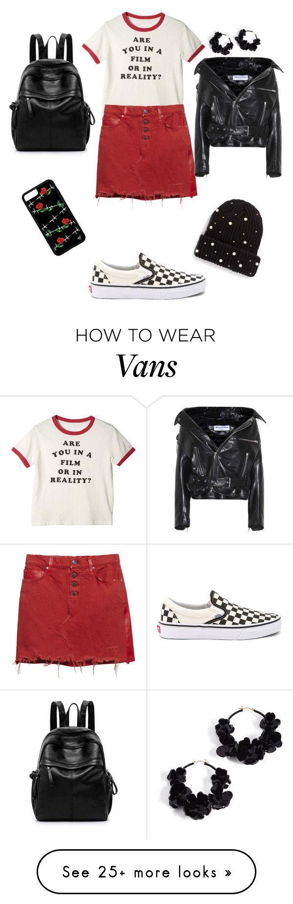 """t-shirt dress up"" by fashiondesignergirl25 on Polyvore featuring AMIRI, Vans, BP., Oscar de la Renta, Balenciaga and MyFaveTshirt"