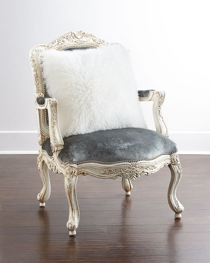 Lucy Accent Chair, Lt.Blue/Off White - Massoud