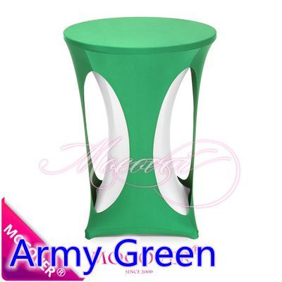 Army green colour spandex high bar table cover lycra table top cover for wedding banquet and party cocktail table decoration #Affiliate