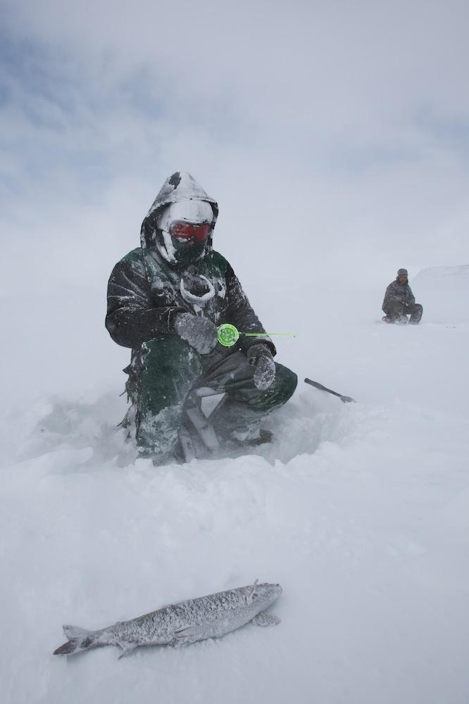 Winter fishing in Finland.  Miia Närkki Photography