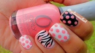 Polka Dot and Zebra Print Nail Art Tutorial