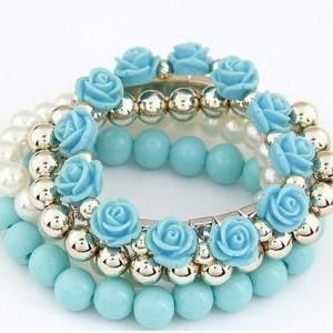 Roses flowers pearls bangle.. Repin and i follow you! ! !