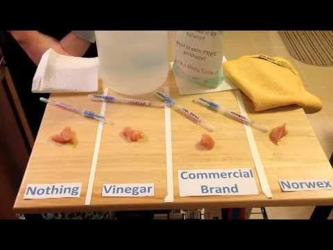 Norwex Demo Cleaning Up Raw Chicken With The Enviro