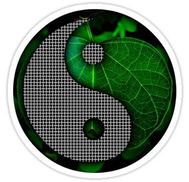 Yin - Yang Sticker 06 by StickerNuts