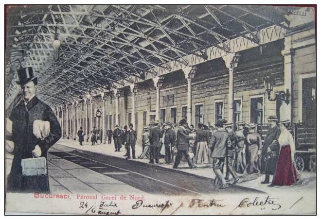 BUCURESTI - Gara de Nord - 1906
