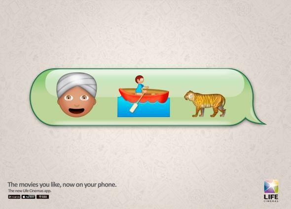 In Ads, Movies Summarized In Emoji - DesignTAXI.com