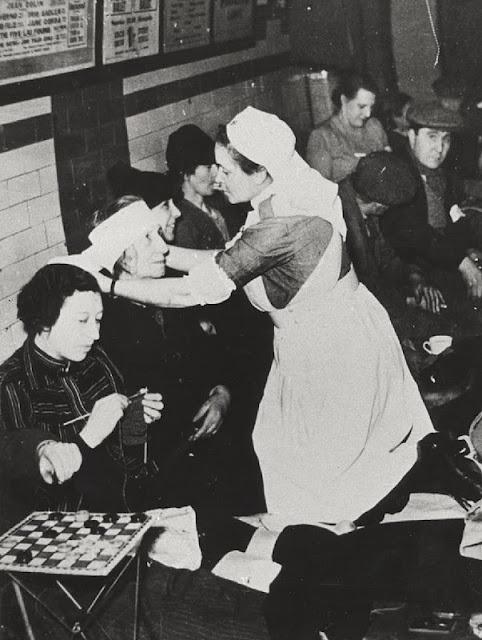 vintage nursing - WWII bomb shelter