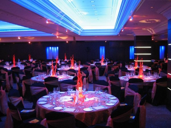 fire and ice theme decorations centrepieces for weddings