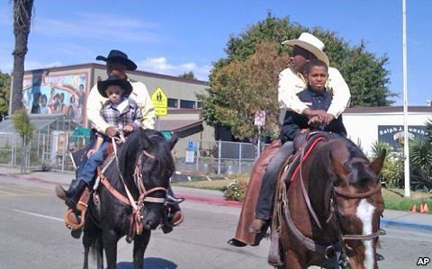 The annual Black Cowboy Parade in Oakland, California, is the only parade in the country that celebrates the contributions of African-American cowboys.