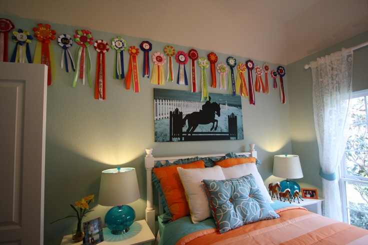 This horse themed room was from a model home.