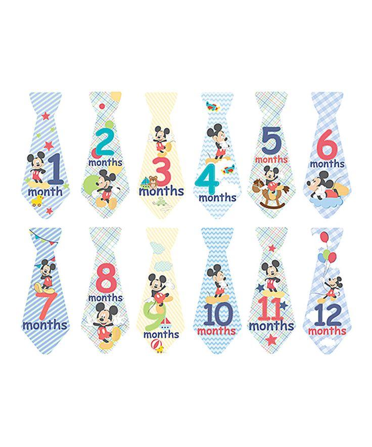 Another great find on #zulily! Mickey Mouse Milestone Sticker Set by Disney Baby #zulilyfinds