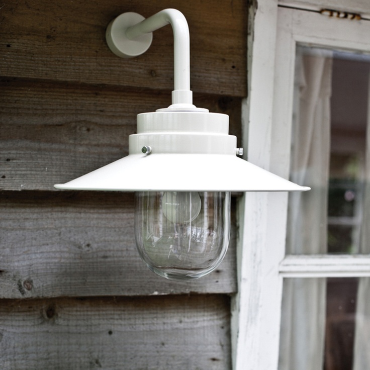 simple but the clear glass shade makes it charming