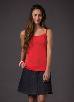 Denim Skirt -  Adjustable waistband, a cotton lining which ensures your skin always has a soft feel against it and also allows the skirt to be worn undone underneath a long top.