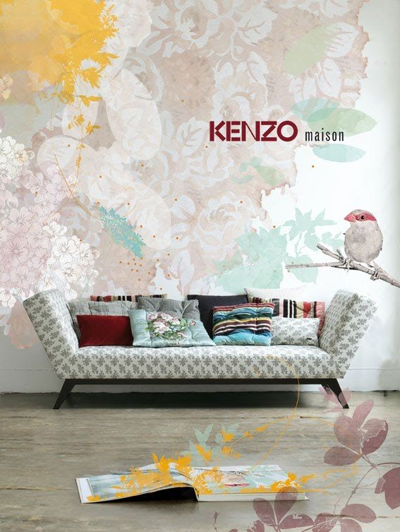 Kenzo Home, Very Soft And Beautiful   My Website Is Inspired By This Ad!