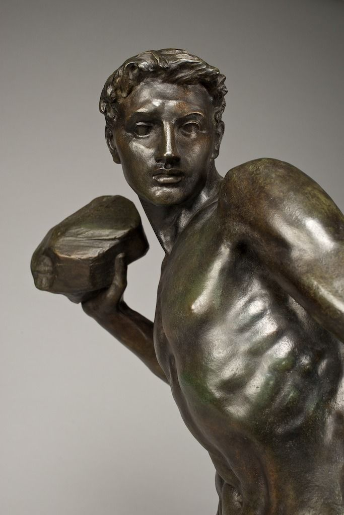 Stone thrower by William Hamo Thornycroft | Sculptures & statues, Man photography, Statue