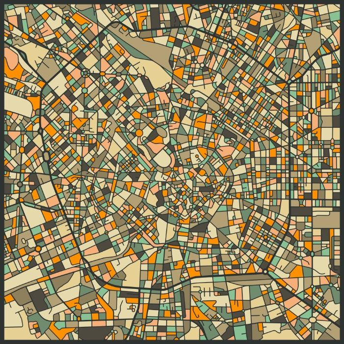 MILAN MAP Art Print by Jazzberry Blue   Society6
