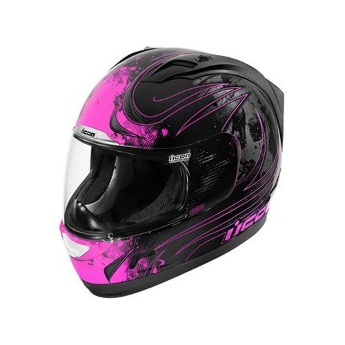 Icon Alliance Threshold Women's Motorcycle Helmet - Black/Pink - Small : Amazon.com : Automotive