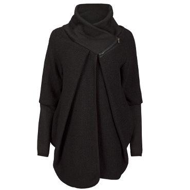 Wollen Jas/Vest Black - als zwangerschapsjas?