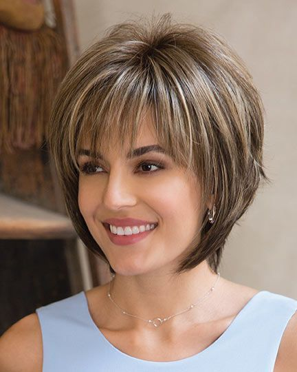 Cute Short Layered Bob With Bangs For Fine Hair