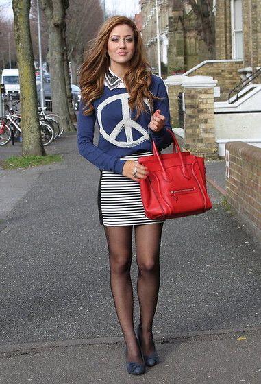 Tamara Kalinic - Céline Bag, River Island Skirt, H&M Sweater, River Island Shirt - Make peace with yourself