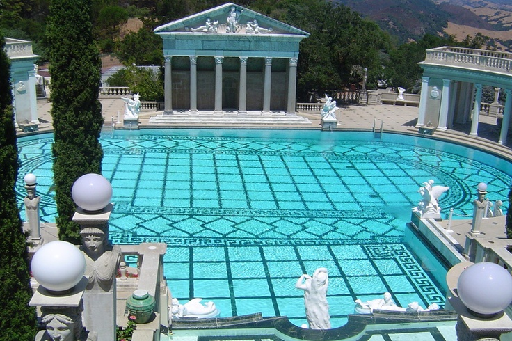 17 best images about places i 39 ve been hearst castle on for Outdoor pool sculptures