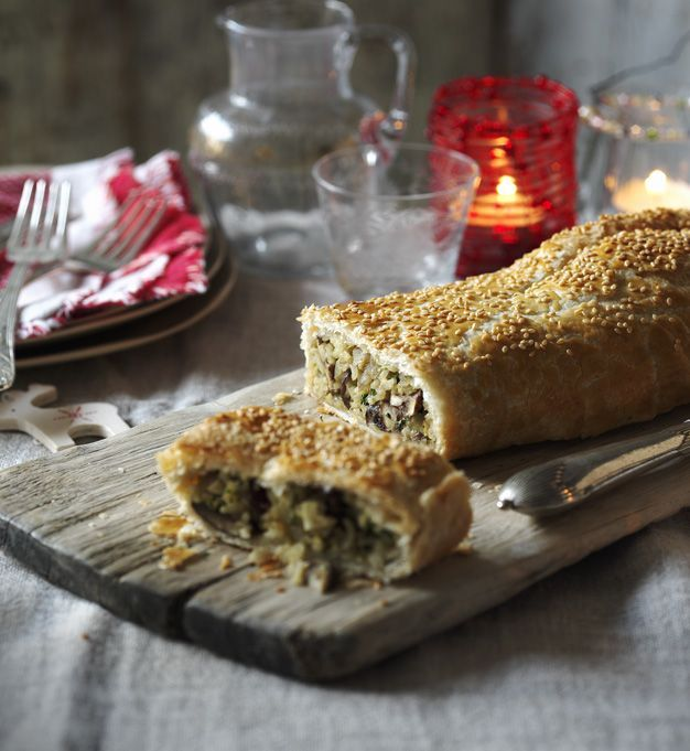 A show-stopping alternative to beef Wellington. this vegetarian recipe will have everyone asking for another slice.