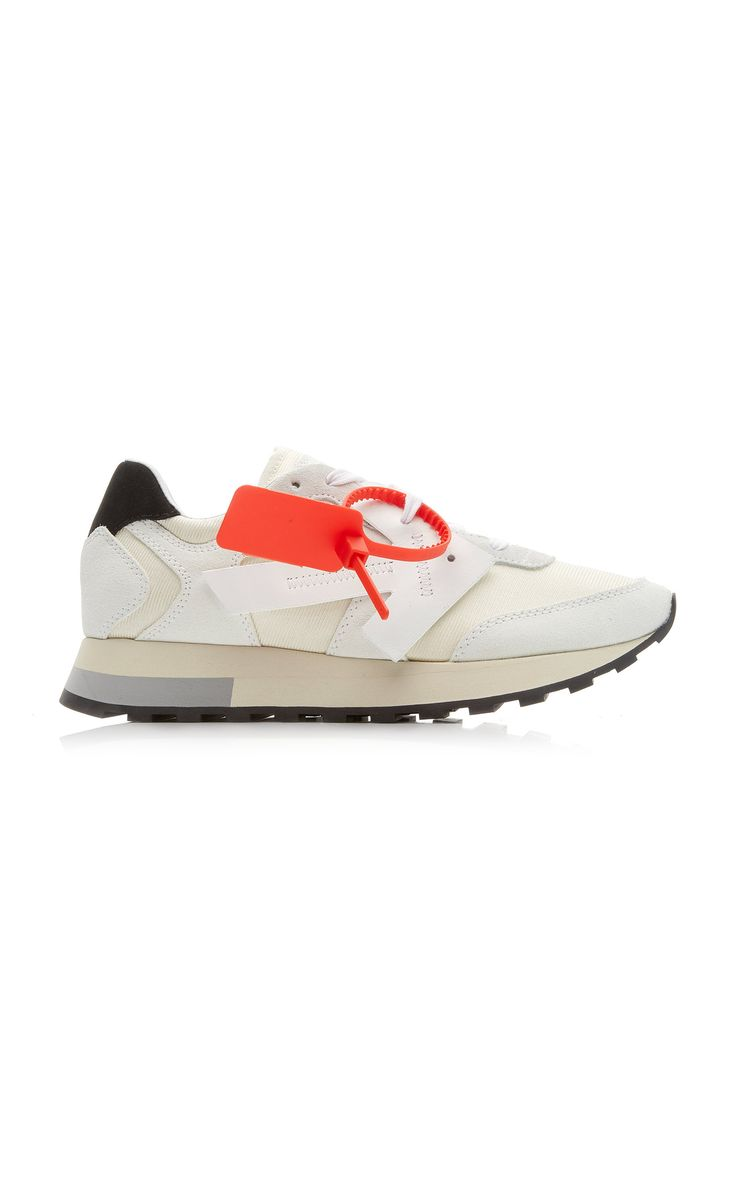 Off-white Hg Runner Leather And Suede
