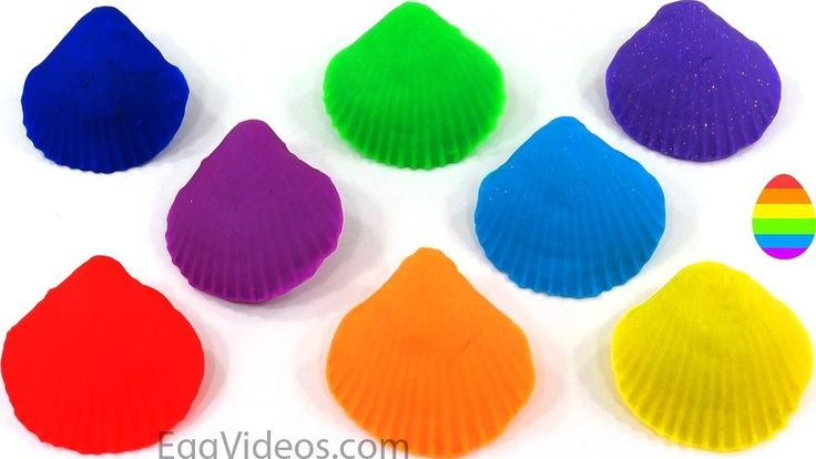 Play Doh Seashells Fun & Creative for Kids Learn Colors Form Surprise Eggs Finger Family PEZ Rhymes https://youtu.be/nuQhqzRy2ww